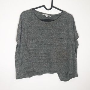Elizabeth and James Sia Cropped Gray T-Shirt